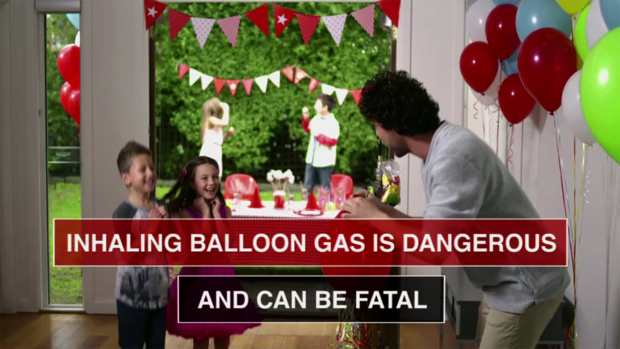 inhaling balloon gas is dangerous
